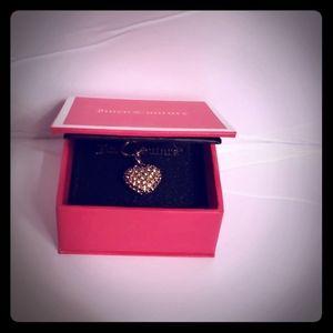 Juicy Couture Rhinestone puffed heart charm